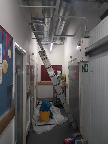 access ceiling drain