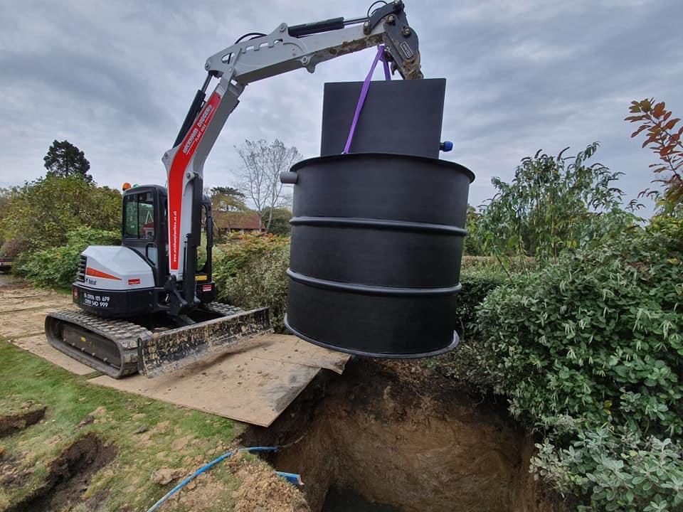 sewage treatment plant installation kent